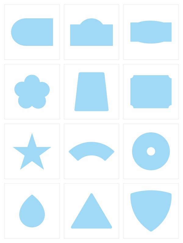標籤貼紙 | 造型數位標籤貼紙 - 造型多樣選擇
